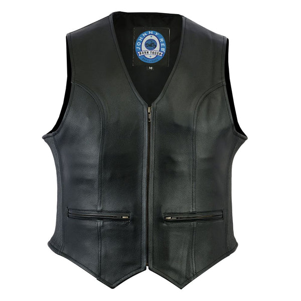 House Of Motorcycles | Johnny Reb Women's Ovens Leather Vest - Front