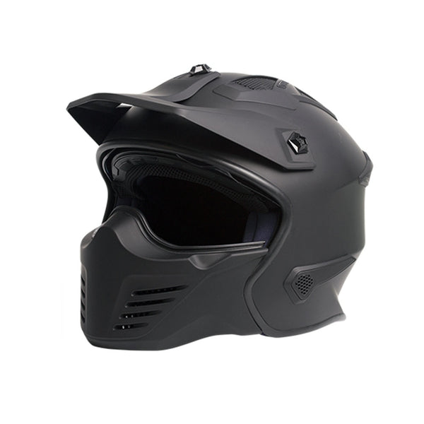 House of motorcycles - RXT WARRIOR STREET FIGHTER HELMET MATTE BLACK - Viser removable chin