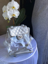 Load image into Gallery viewer, Silver Backbag with wallet & Silver Chain