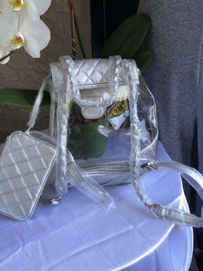 Silver Backbag with wallet & Silver Chain