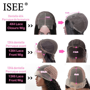 ISEE HAIR Kinky Curly Lace Front Wig