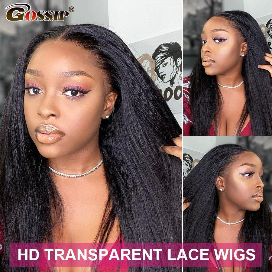 Gossip Transparent Kinky Straight Lace Wig