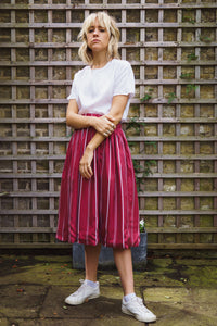 Gillian June Midi Skirt, Sustainable Red Tencel
