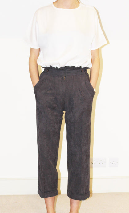 Alice Trousers - Grey Corduroy