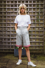 Gillian June Sustainable Linen Shorts - Grey, Wide Leg