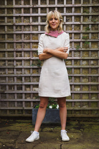 Fitted Linen Work Dress Gillian June