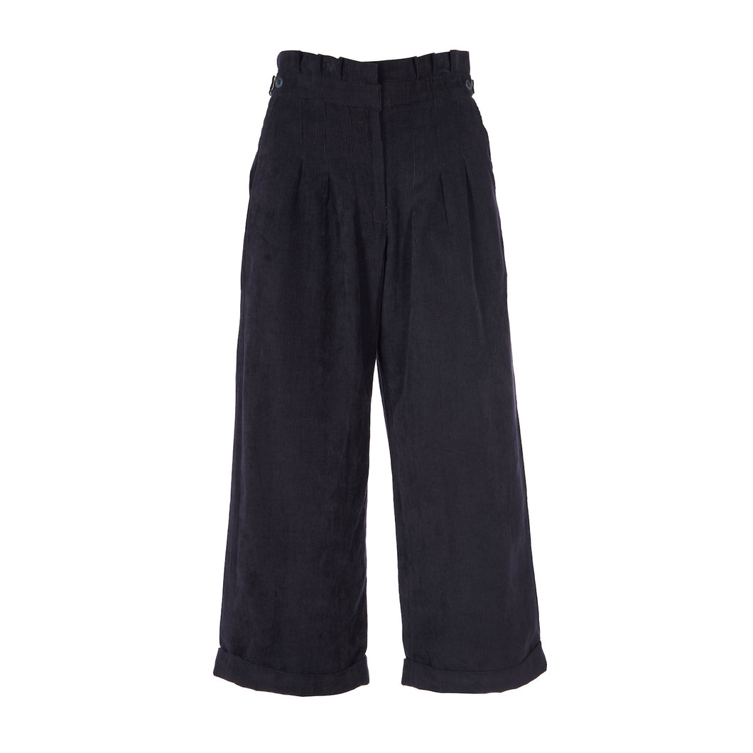Alice Trousers - Navy Corduroy