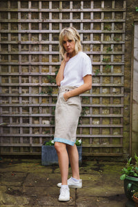 Gillian June Sustainable Linen Shorts - Natural, Wide Leg