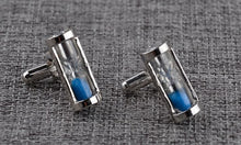 Load image into Gallery viewer, Stylish Blue Hour Glass Cufflinks - Crazy Cuffs