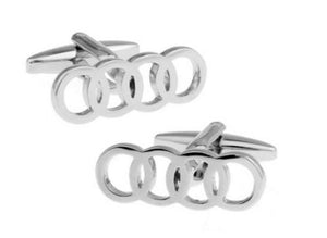 Silver Audi Cufflinks - Crazy Cuffs