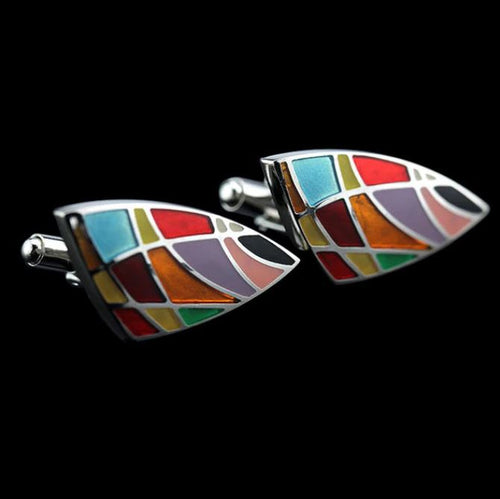 Trendy Colorful Sails Cufflinks - Crazy Cuffs