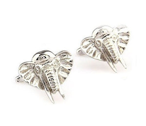 Silver Elephant Cufflinks - Crazy Cuffs