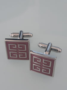 Classic Pink and Silver Cufflinks - Crazy Cuffs