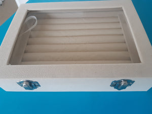 Beige Cufflink Storage Box - Crazy Cuffs