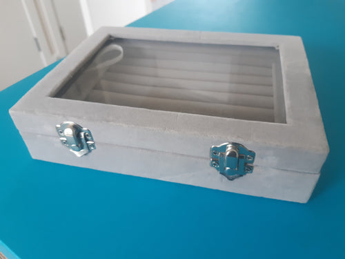 Gray Cufflink Storage Box - Crazy Cuffs