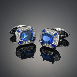 Stylish Blue Stone Cufflinks - Crazy Cuffs