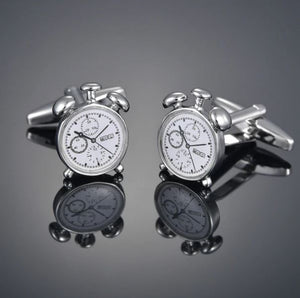 Alarm Clock Cufflinks - Crazy Cuffs
