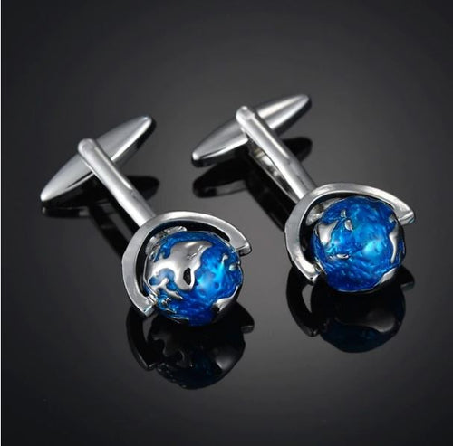 Globe Cufflinks - Crazy Cuffs