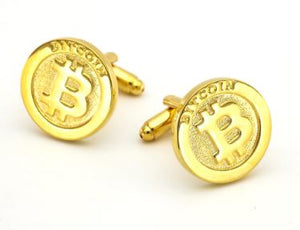 Bitcoin Crypto Cufflinks - Crazy Cuffs