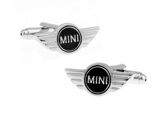 Silver and Black Mini Cooper Cufflinks - Crazy Cuffs