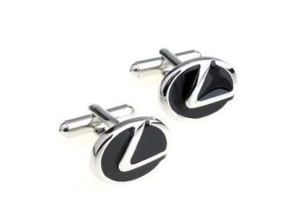 Silver and Black Lexus Cufflinks - Crazy Cuffs