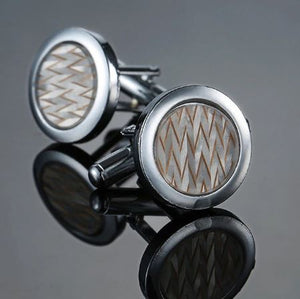 Stylish Round Cufflinks - Crazy Cuffs