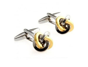 Silver and Gold Knot Cufflinks - Crazy Cuffs