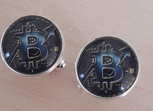 Load image into Gallery viewer, Bitcoin Crypto Cufflinks - Crazy Cuffs
