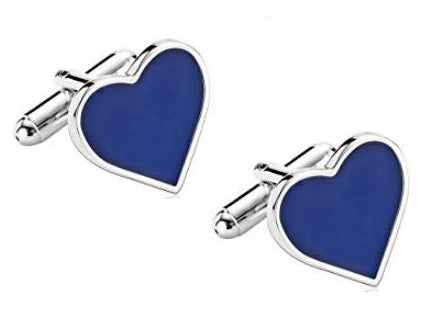 Love Heart Cufflinks - Crazy Cuffs