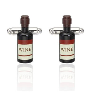 Wine Bottle Cufflinks - Crazy Cuffs