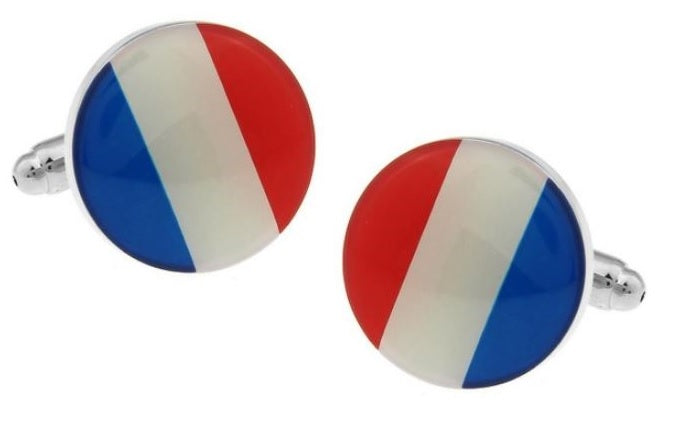 French Flag Cufflinks - Crazy Cuffs
