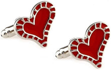 Load image into Gallery viewer, Red Love Heart Cufflinks - Crazy Cuffs