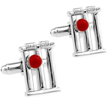 Load image into Gallery viewer, Cricket Wickets and Ball Cufflinks - Crazy Cuffs