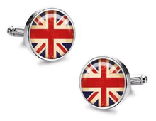 Load image into Gallery viewer, UK Flag Cufflinks - Crazy Cuffs
