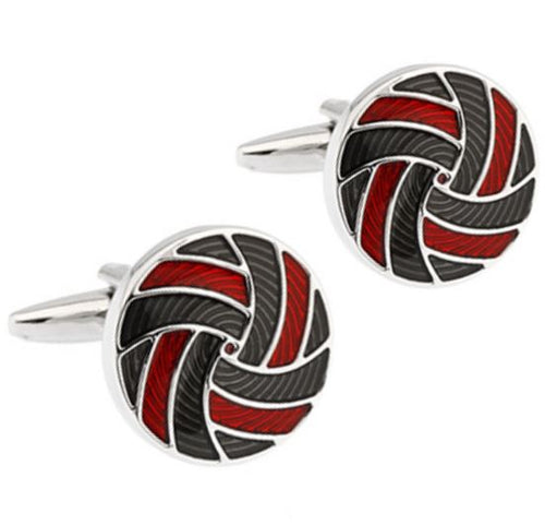 Trendy Black and Red Cufflinks - Crazy Cuffs