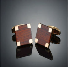 Load image into Gallery viewer, Stylish Wood Cufflinks - Crazy Cuffs