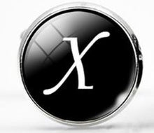 Load image into Gallery viewer, Large Silver Plated Single Letter (X) Cufflink - Crazy Cuffs