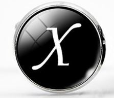 Large Silver Plated Single Letter (X) Cufflink - Crazy Cuffs