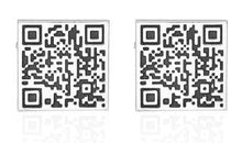 Load image into Gallery viewer, Classic QR Code Cufflinks - Crazy Cuffs