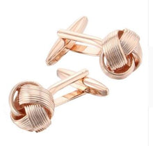 Load image into Gallery viewer, Gorgeous Rosegold Knot Cufflinks - Crazy Cuffs