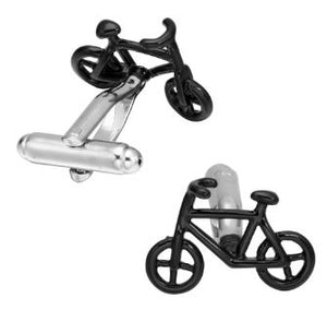 Cool Pair of Black Bike Cufflinks - Crazy Cuffs