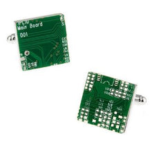 Load image into Gallery viewer, Circuit Board Cufflinks - Crazy Cuffs