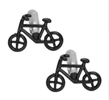 Load image into Gallery viewer, Cool Pair of Black Bike Cufflinks - Crazy Cuffs