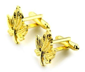 Gold Maple Leaf Cufflinks - Crazy Cuffs