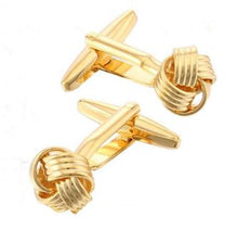 Load image into Gallery viewer, Gorgeous Gold Knot Cufflinks - Crazy Cuffs