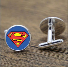 Load image into Gallery viewer, Round Superman Cufflinks - Crazy Cuffs