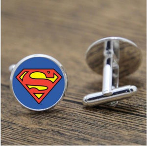 Round Superman Cufflinks - Crazy Cuffs
