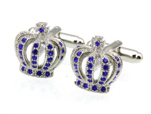 Load image into Gallery viewer, Vintage Imperial Crown Cufflinks - Crazy Cuffs