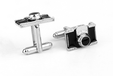 Load image into Gallery viewer, Camera Cufflinks - Crazy Cuffs