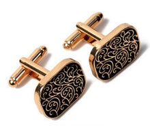 Load image into Gallery viewer, Stylish Gold Cufflinks - Crazy Cuffs